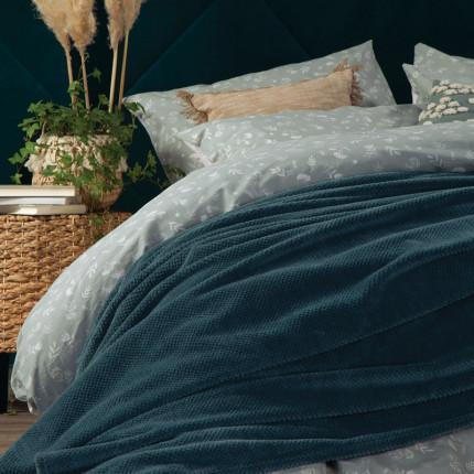 Κουβέρτα Fleece Υπέρδιπλη 240x220 Nef Nef Record Green