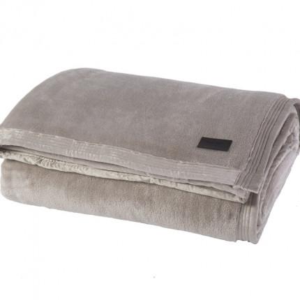 Κουβέρτα Βελουτέ Υπέρδιπλη 230x240 Nef Nef Elements Velosso Silver