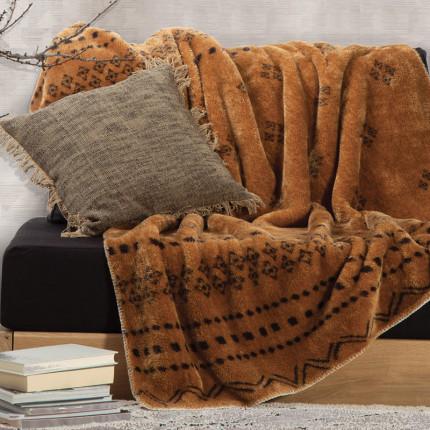 Κουβέρτα Καναπέ 130x170 Nef Nef Ragnar Mustard
