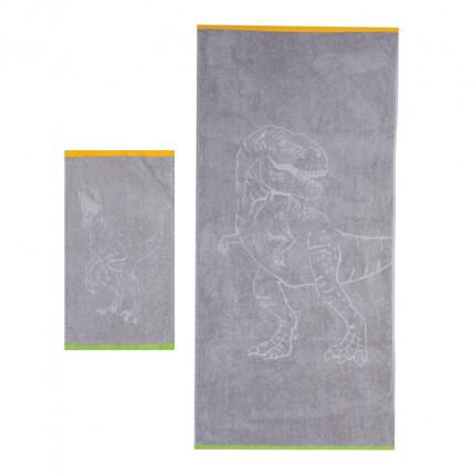 Παιδικές Πετσέτες (Σετ 2 Τμχ) Nef Nef Jurassic Grey