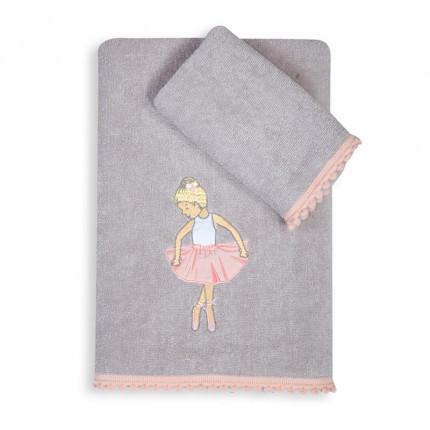 Παιδικές Πετσέτες (Σετ 2 Τμχ) Nef Nef Dance School L.Grey