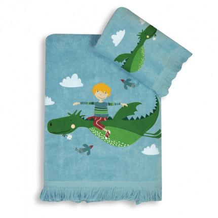 Παιδικές Πετσέτες (Σετ 2 Τμχ) Nef Nef Dragon World Light Blue
