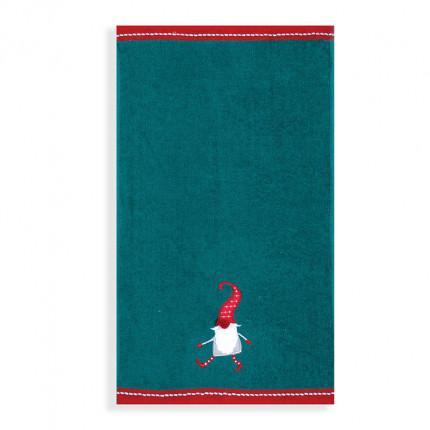 Χριστουγεννιάτικες Πετσέτες Κουζίνας (Σετ 2 Τμχ) 30x50 Nef Nef Crazy Santa Green