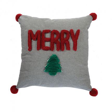 Χριστουγεννιάτικο Διακοσμητικό Μαξιλάρι 45x45 Nef Nef Merry Christmas 20 L.Grey