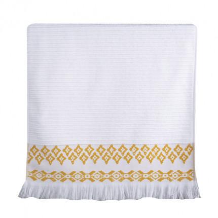 Πετσέτα Χεριών 30x50 Nef Nef Arabi White/Yellow