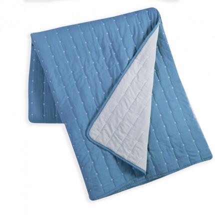 Κουβερλί King Size 270x270 Nef Nef Bicolor Blue-L.Grey