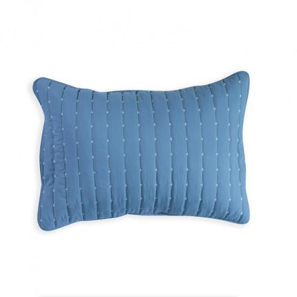 Μαξιλαροθήκες Ζεύγος 52x72 Nef Nef Bicolor Blue-L.Grey