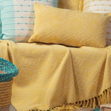 Κουβέρτα Καναπέ 130x170 Nef Nef Crysta Yellow