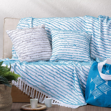 Κουβέρτα Καναπέ 130x170 Nef Nef Gustav Blue