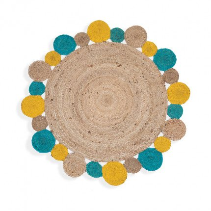Χαλί Διαδρόμου Φ120 Nef Nef Jute Yellow/Aqua