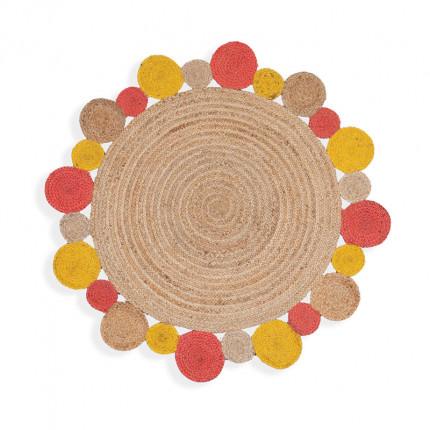 Χαλί Διαδρόμου Φ120 Nef Nef Jute Coral/Yellow