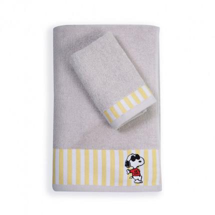 Παιδικές Πετσέτες (Σετ 2 Τμχ) Nef Nef Snoopy Rockstar Grey