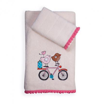 Παιδικές Πετσέτες (Σετ 2 Τμχ) Nef Nef Happy City Ecru