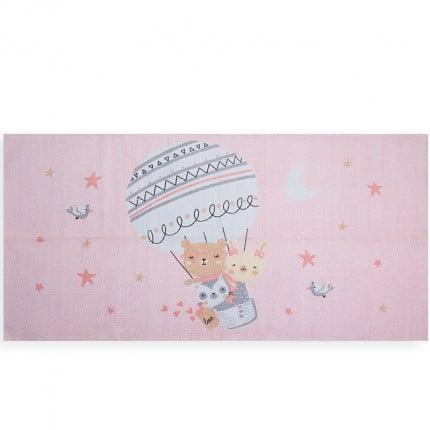 Παιδικό Χαλί 70x140 Nef Nef Trip To The World Pink