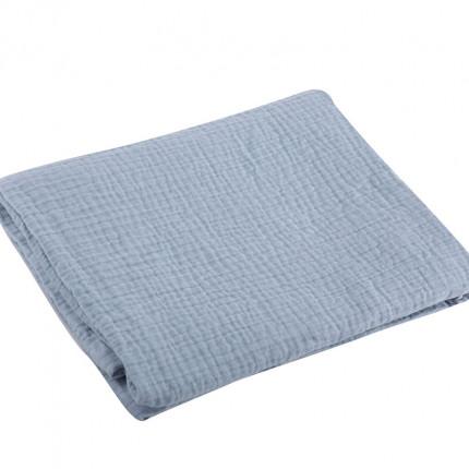Κουβέρτα Πικέ Κούνιας 110x150 Nef Nef Tenderness L.Blue