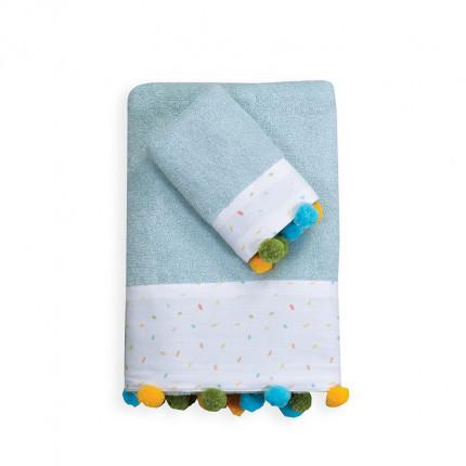 Βρεφικές Πετσέτες (Σετ 2 Τμχ) Nef Nef Louna Park White/L.Blue