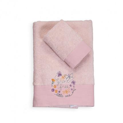 Βρεφικές Πετσέτες (Σετ 2 Τμχ) Nef Nef Liberty Pink
