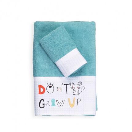Βρεφικές Πετσέτες (Σετ 2 Τμχ) Nef Nef Don'T Grow Up Aqua