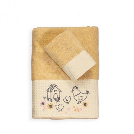 Βρεφικές Πετσέτες (Σετ 2 Τμχ) Nef Nef Lovely Family Yellow