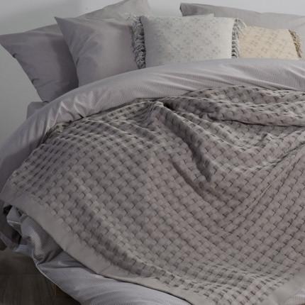 Κουβέρτα Πικέ Μονή 170x240 Nef Nef Organic Grey
