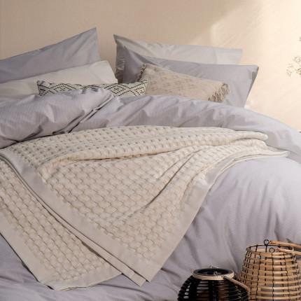 Κουβέρτα Πικέ Υπέρδιπλο 230x240 Nef Nef Organic Beige