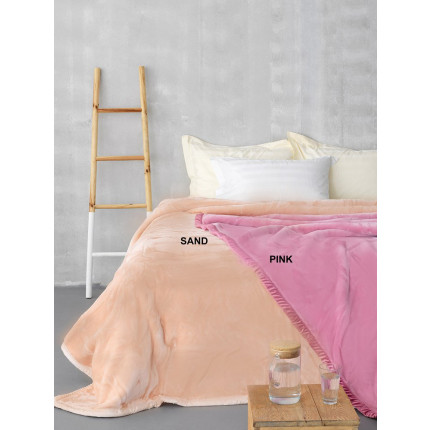 Κουβέρτα Υπέρδιπλη Βελουτέ 220X240 Palamaiki Dream Vellour Pink