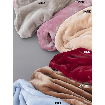 Κουβέρτα Υπέρδιπλη Βελουτέ 220X240 Palamaiki Dream Vellour Red