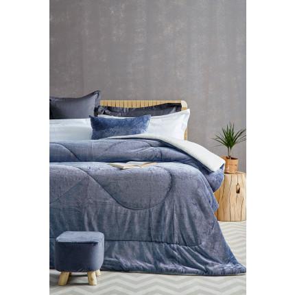 Κουβερτοπάπλωμα Υπέρδιπλο 220X240 Palamaiki Gring Blanket Grind Blue