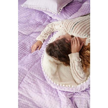 Κουβερτοπάπλωμα Μονό 160X220 Palamaiki Desire Blanket Desire Lilac