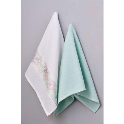 Πετσέτες Κουζίνας 50X70 (Σετ 2 Τμχ) Palamaiki Kitchen Towels Aqua