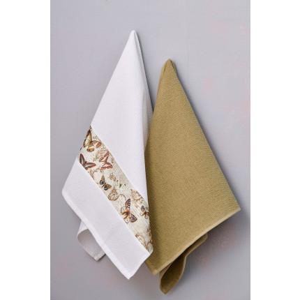 Πετσέτες Κουζίνας 50X70 (Σετ 2 Τμχ) Palamaiki Kitchen Towels Verde