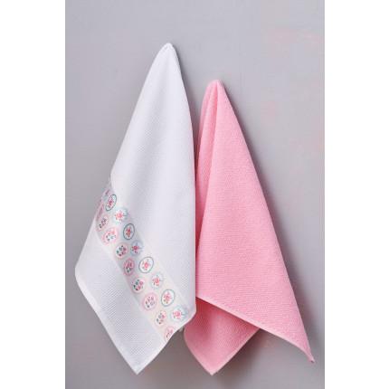 Πετσέτες Κουζίνας 50X70 (Σετ 2 Τμχ) Palamaiki Kitchen Towels Fiori