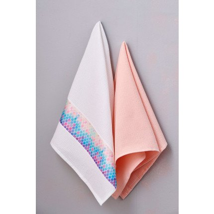 Πετσέτες Κουζίνας 50X70 (Σετ 2 Τμχ) Palamaiki Kitchen Towels Salmone