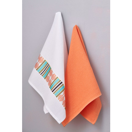 Πετσέτες Κουζίνας 50X70 (Σετ 2 Τμχ) Palamaiki Kitchen Towels Terracota