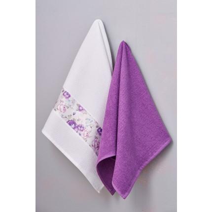 Πετσέτες Κουζίνας 50X70 (Σετ 2 Τμχ) Palamaiki Kitchen Towels Viola