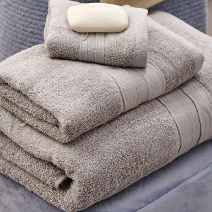 Πετσέτες Μπάνιου (Σετ 3 Τμχ) Palamaiki Bath Collection Cactus Silver