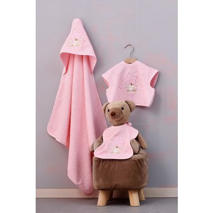 Βρεφικές Πετσέτες (Σετ 3 Τμχ) Palamaiki Baby Joia Bj527 Pink
