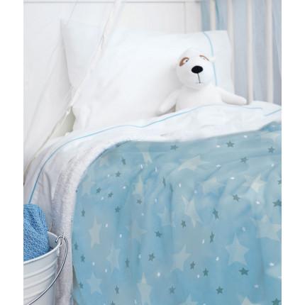 Κουβέρτα Fleece Μονή 160X220 Palamaiki Bebe Blanket Sky Boy