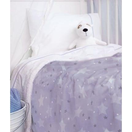 Κουβέρτα Fleece Αγκαλιάς 80X90 Palamaiki Bebe Blanket Sky Girl