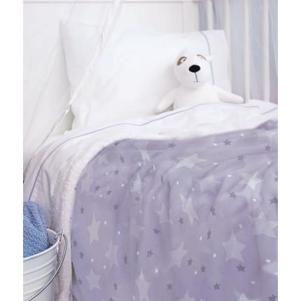Κουβέρτα Fleece Μονή 160X220 Palamaiki Bebe Blanket Sky Girl