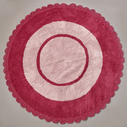 Στρογγυλό Χαλί Φ140 Palamaiki Kids Decor Target Pink (All Season)