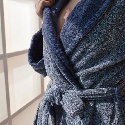 Μπουρνούζι Με Γιακά Palamaiki Bathrobe Collection Belagio Blue