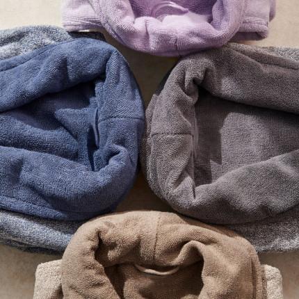 Μπουρνούζι Με Γιακά Palamaiki Bathrobe Collection Belagio Grey