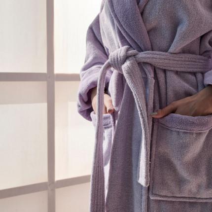 Μπουρνούζι Με Γιακά Palamaiki Bathrobe Collection Belagio Lilac