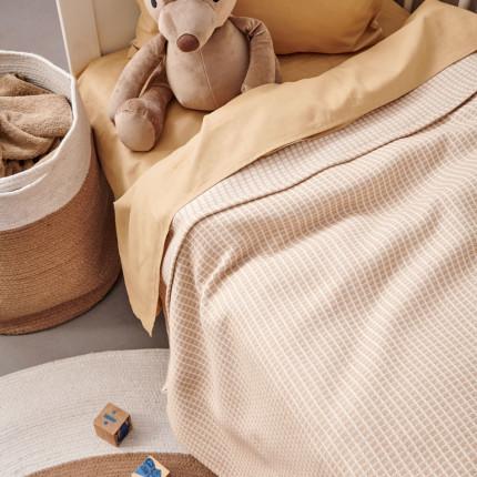 Κουβερτόριο Κούνιας 110X150 Palamaiki Blanket Collection Deem Beige