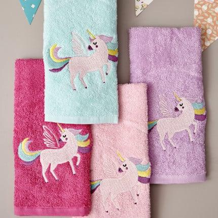 Παιδικές Πετσέτες (Σετ 4 Τμχ) 40X60 Palamaiki Kids Bathroom Unicorn Magic