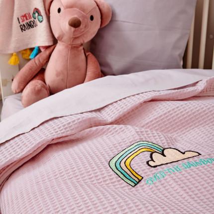 Κουβέρτα Πικέ Κούνιας 110X150 Palamaiki Baby Collection Pikelino Pink