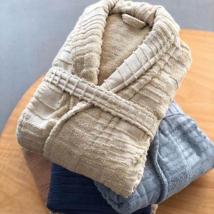 Μπουρνούζι Με Γιακά Palamaiki Towels Baker Taupe