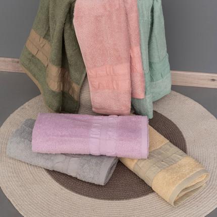 Πετσέτες Μπάνιου (Σετ 3 Τμχ) Palamaiki Bath Collection Cactus Green