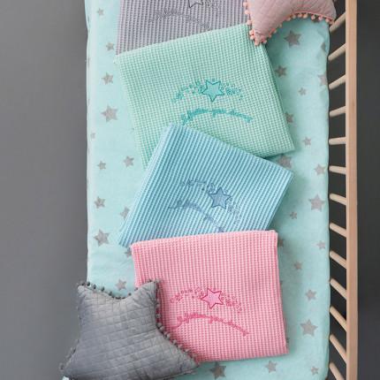 Κουβέρτα Πικέ Κούνιας 110X150 Palamaiki Bebe Blanket Dreams Mint